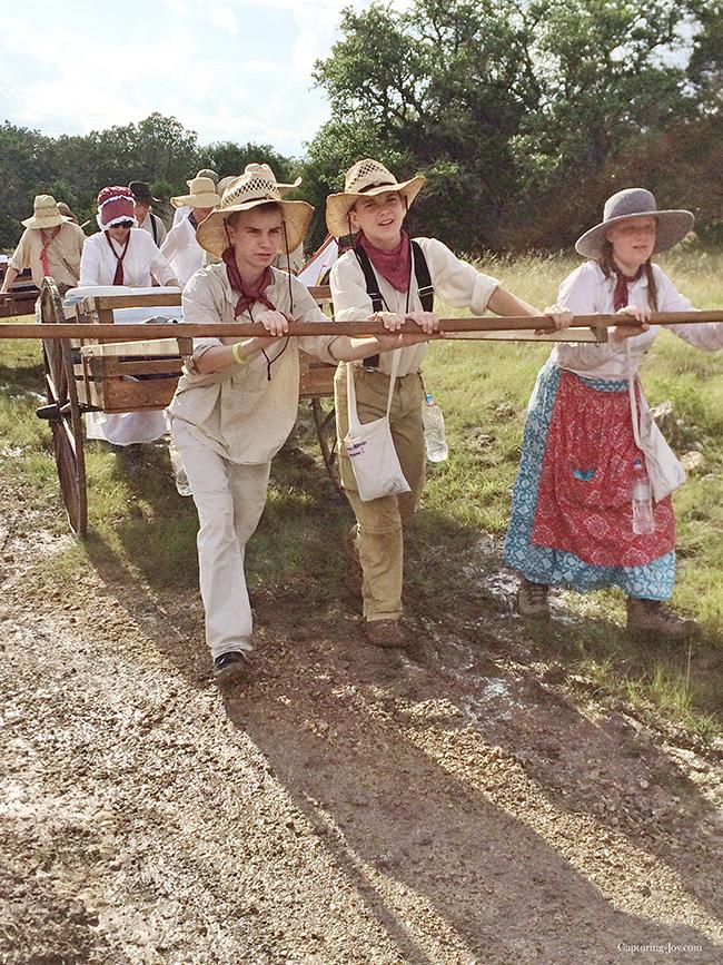 pushing handcarts