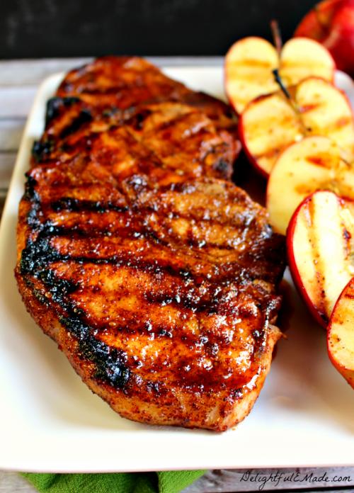Apple Cider Glazed Pork Chops