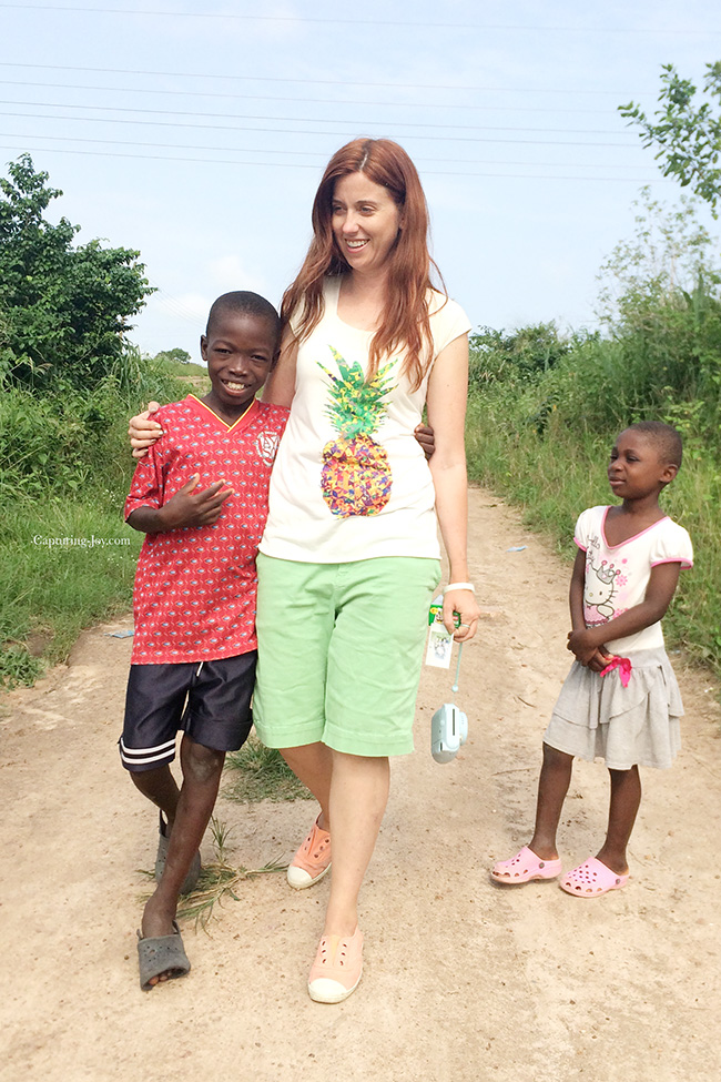 Children in Ghana walking