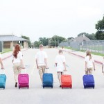 Family travel suitcase carry on
