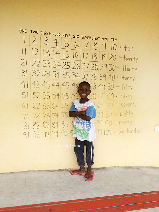 Ghana Childrens Home learning numbers