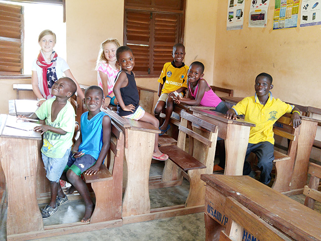 Ghana children school room