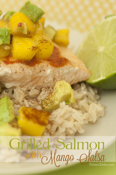 Grilled Salmon Recipe with Mango Salsa