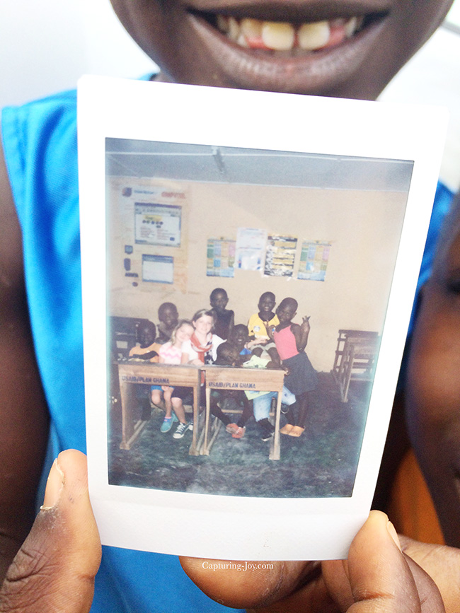 Instax immediate picture to children in Ghana