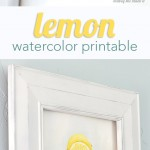 Lemon Watercolor Printable perfect for summer!