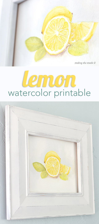 Lemon And Lime Kitchen Decor Lemon Watercolor Printable Capturing Joy With Kristen Duke