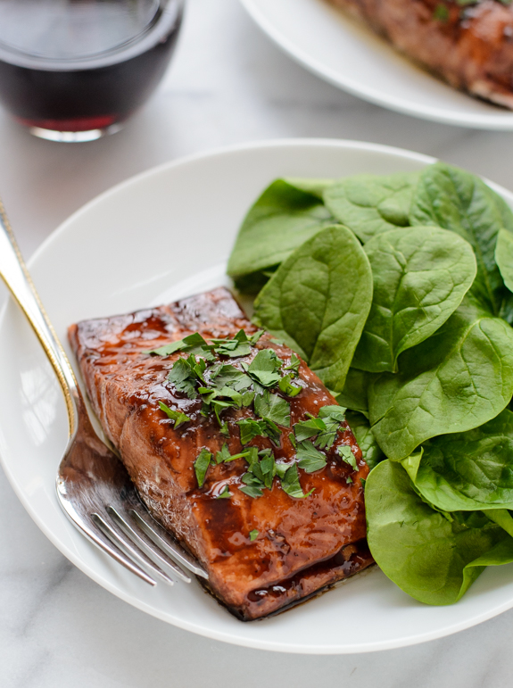 Perfect Balsamic glazed salmon that is ready in 20 minutes!