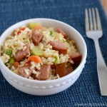 Easy summer meal- Smoked Sausage Fried Rice