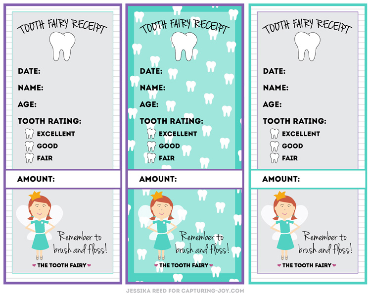 tooth fairy receipt - Free Printable Receipt