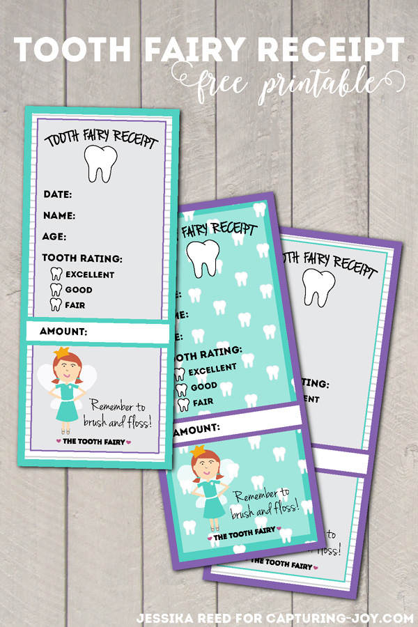 Tooth Fairy Receipt Free Printable