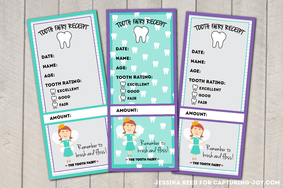 photo about Tooth Fairy Ideas Printable named Enamel Fairy Receipt Cost-free Printable - Shooting Happiness with