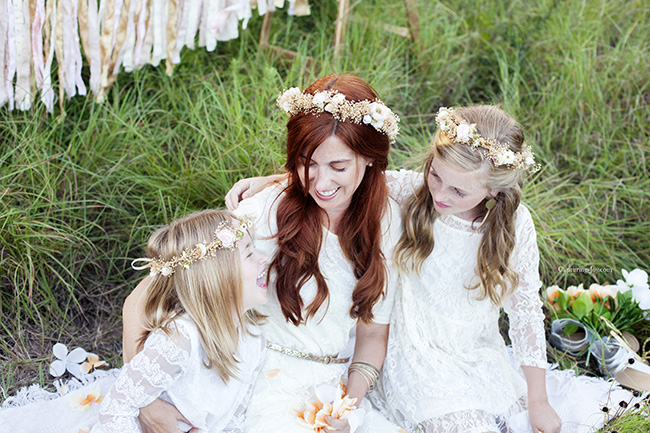 floral crowns for bridesmaids and flower girls