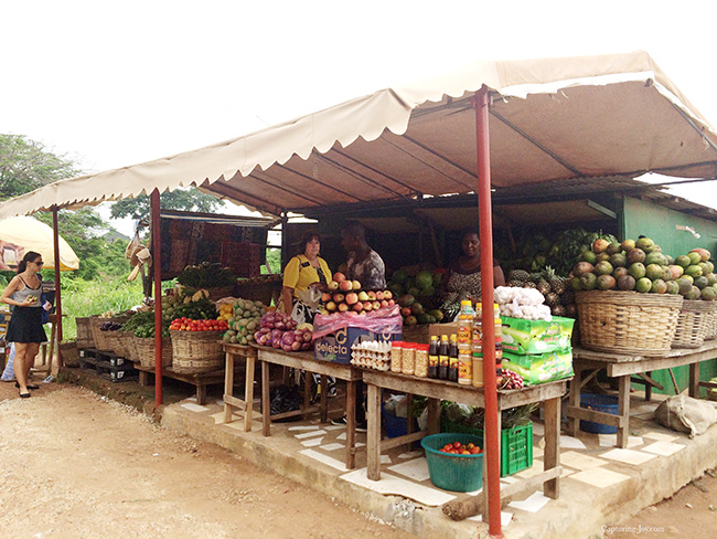 fruit stand in Ghana Africa