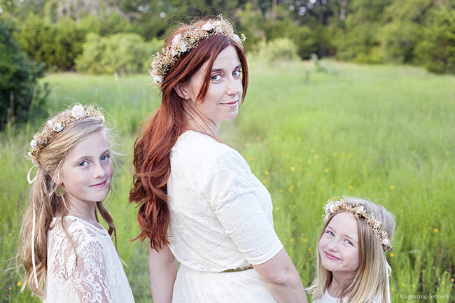mother daughter floral crowns