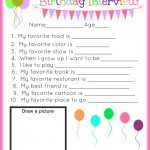 Birthday Interview Printable on Capturing Joy!