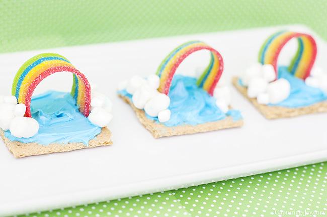 rainbow weather snack