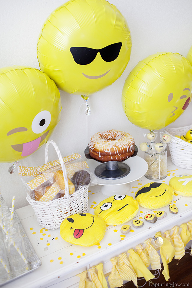 Emoji Birthday Party with yellow