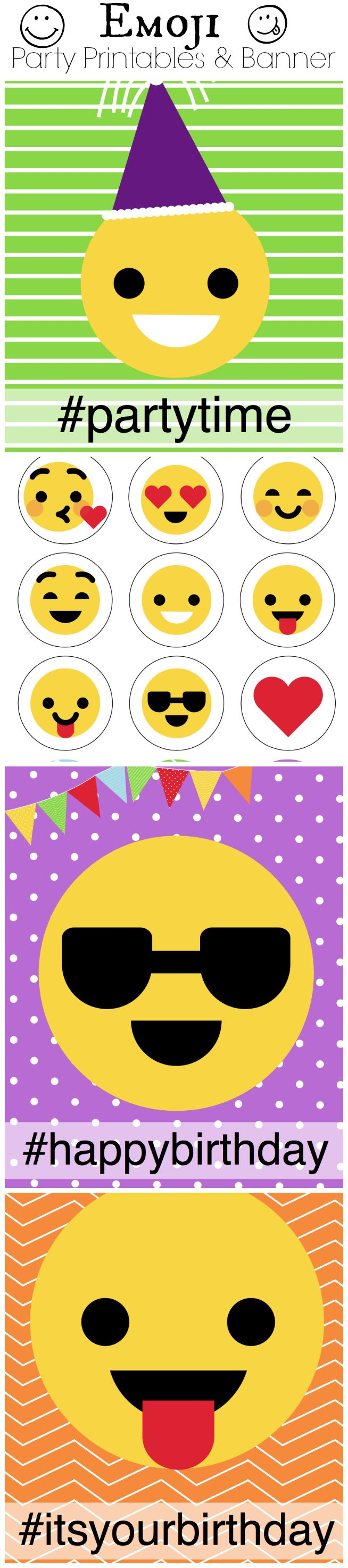 Emoji Party Free Printables And Banner