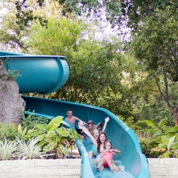 Hyatt Wild Oak Ranch in San Antonio adventures, family train on water slide