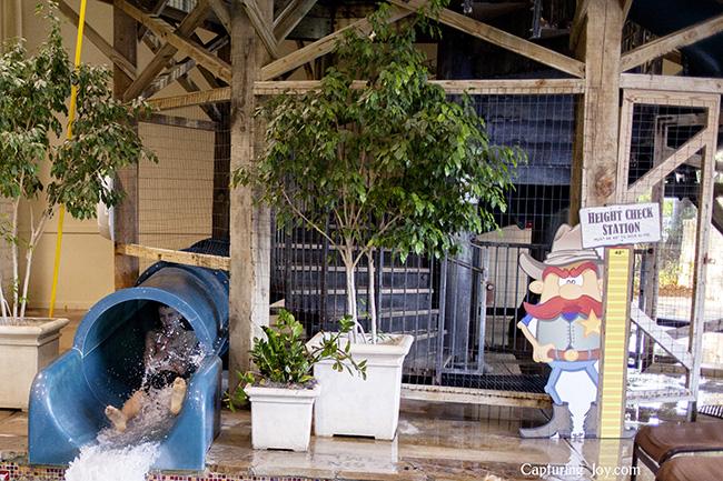 Indoor water slide at Hyatt Wild Oak Ranch