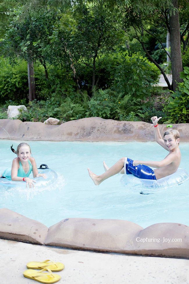 Lazy river fun in the water