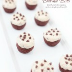 Simple egg-less No-Bake Cookie Dough Brownie Bites by Capturing-Joy.com
