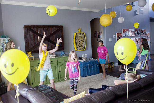 Smiley Balloons At Emoji Party