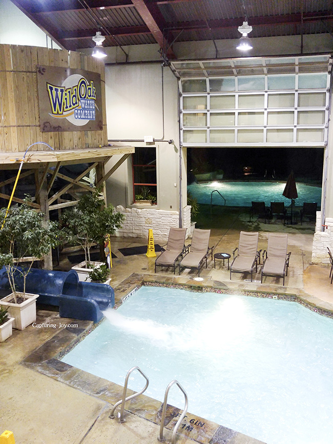 Wild Oak Ranch indoor pool and slide