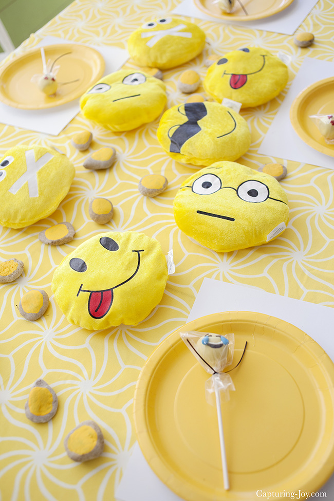 Yellow Emoticon birthday party ideas