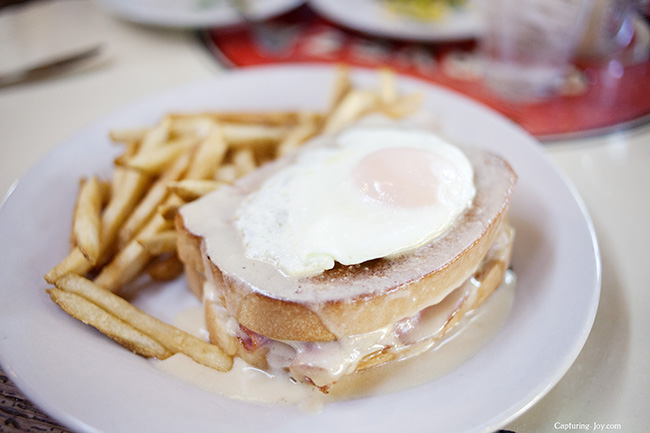 croque monsieur with fried egg
