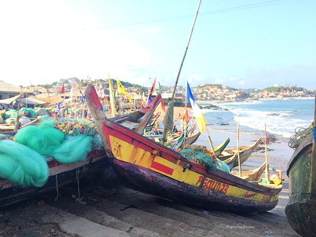 fishing boat on cape coast