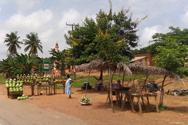 ghana fruit stands