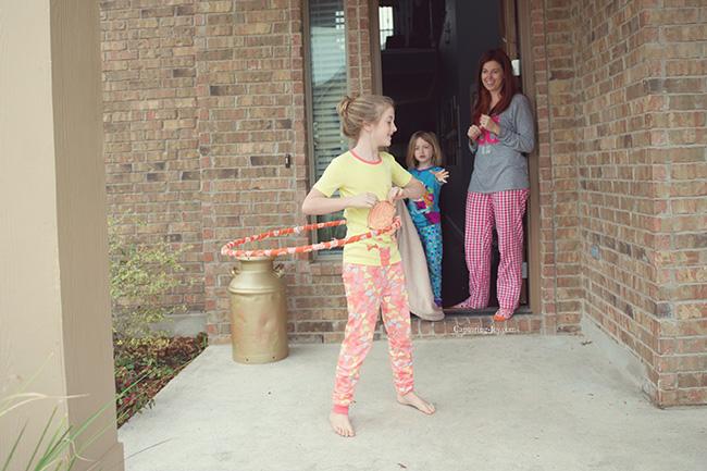 hoola hoop pajamas