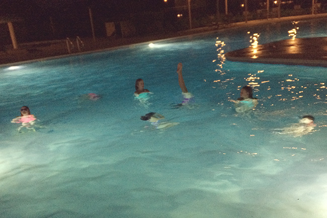 night swimming party