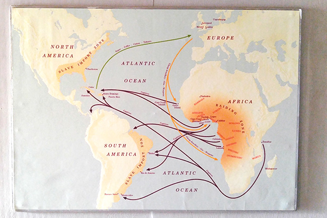 slave trading map