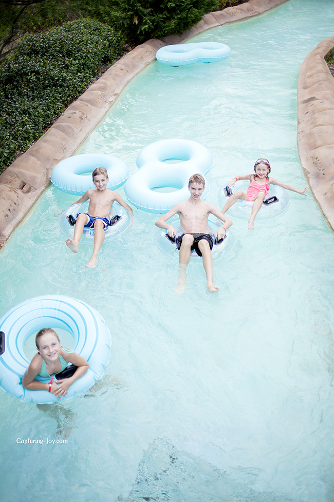 swimming in the lazy river