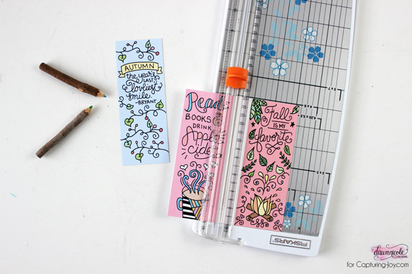 Fall Bookmarks Coloring Page Capturing Joy With Kristen Duke