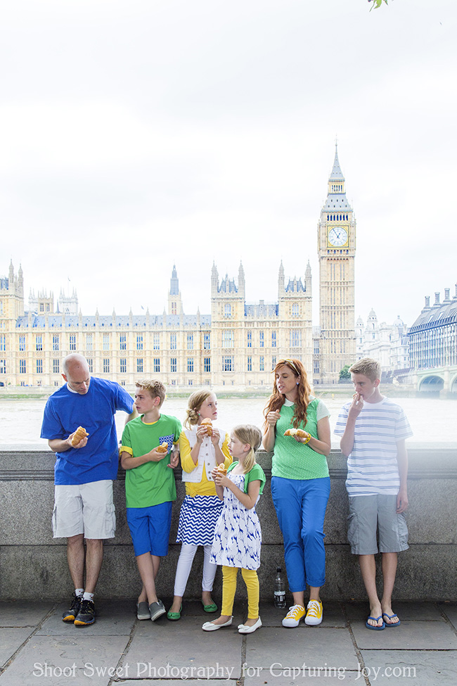 Family photos in London