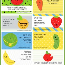 Fruit and Vegetables Lunch Box Jokes
