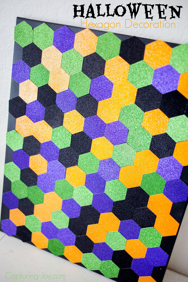 Hexagon Halloween Backdrop