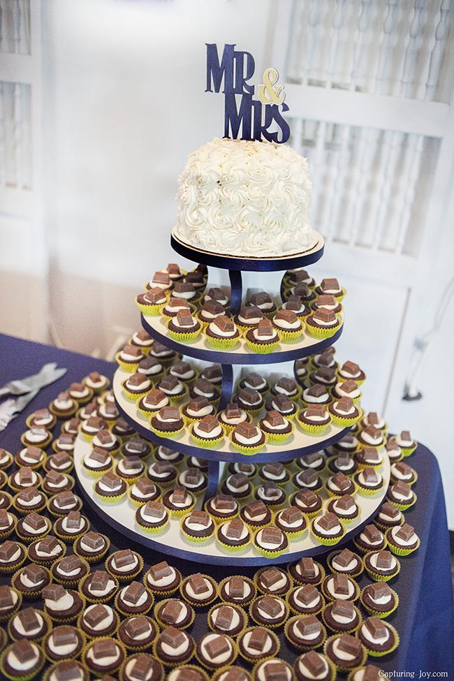 Kit Kat Wedding Cake Brownie Bites