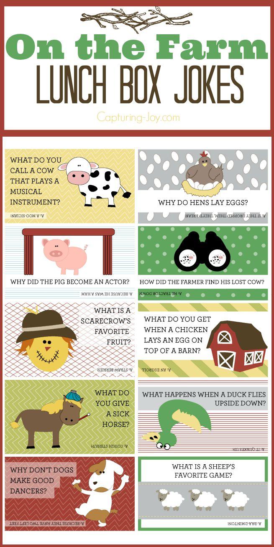 On the Farm Lunch Box jokes by Capturing-Joy.com