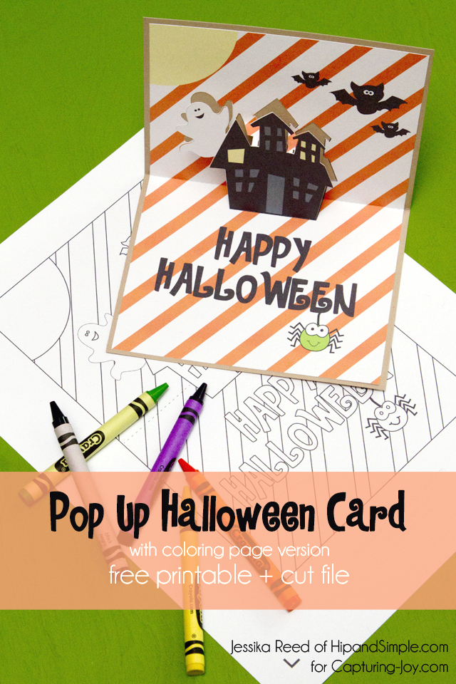 picture regarding Printable Halloween Cards named Printable Halloween Card - Absolutely free Pop Up Halloween Card