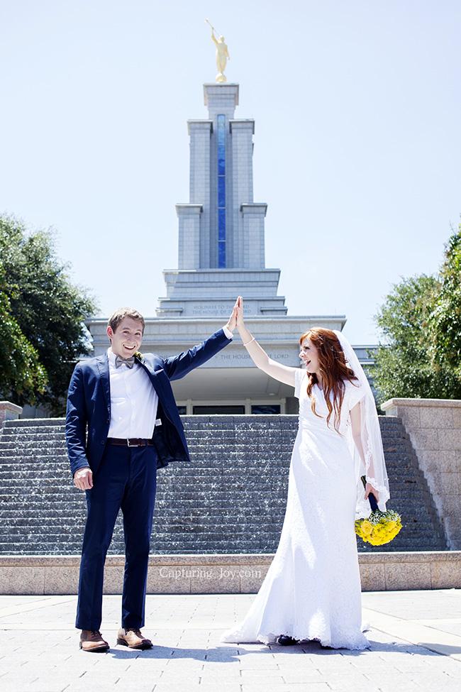 Texas Temple Wedding photos