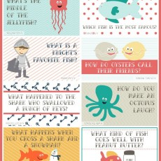 Under the Sea free Printable Lunch box jokes