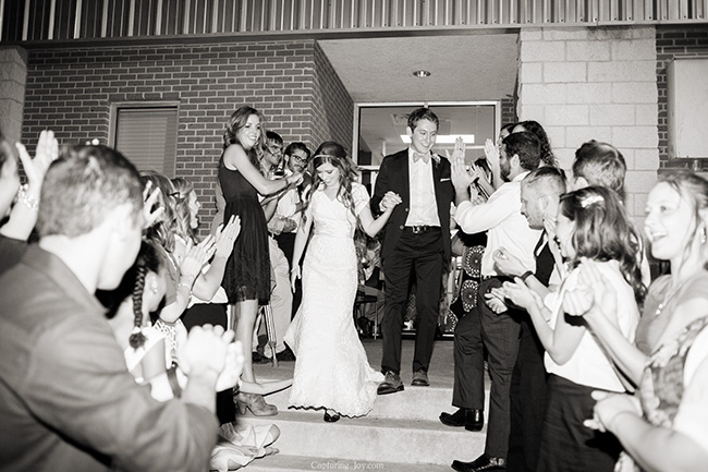 bride and groom farewell