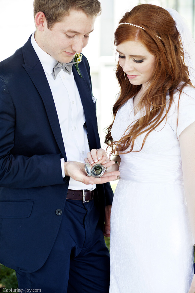 bride and groom pocketwatch