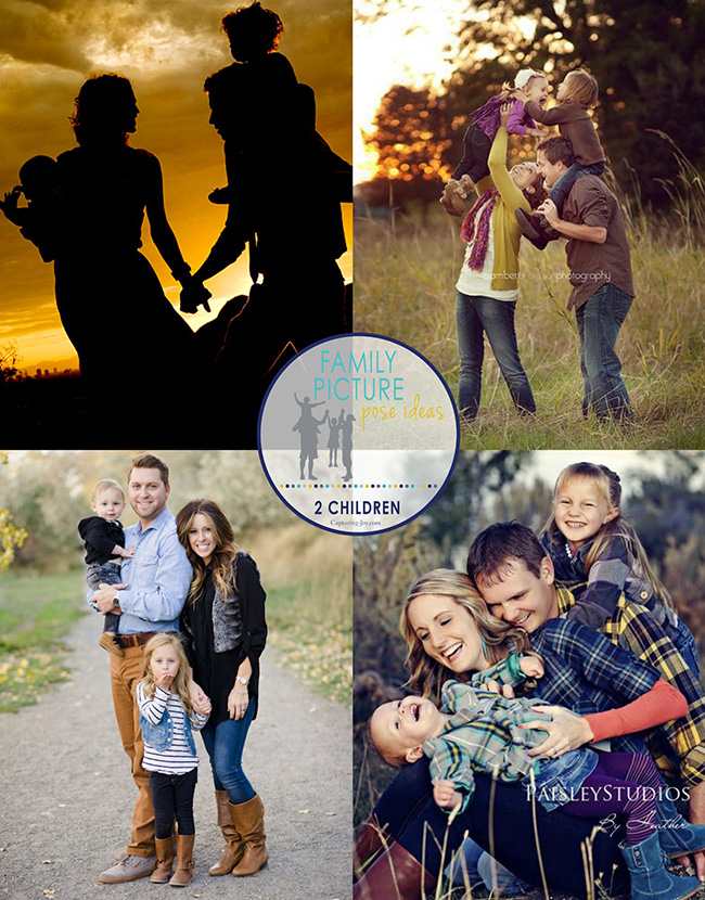 Family Picture Pose Ideas With 2 Children Capturing Joy