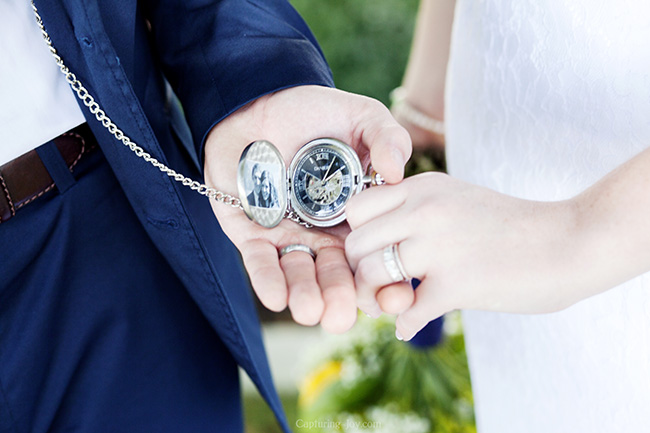 pocketwatch bride and groom