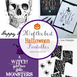 20 of the BEST Halloween Printable Decorations from around the Web! Capturing-Joy.com